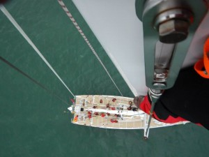 Top of mast looking down