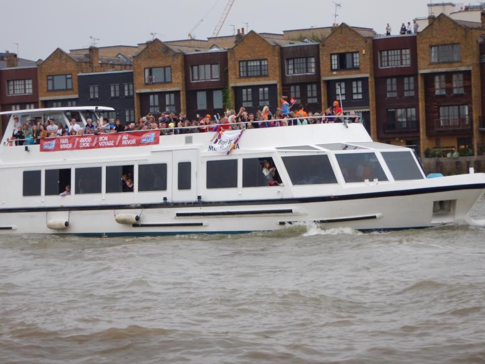 Supporter Boat on Thames