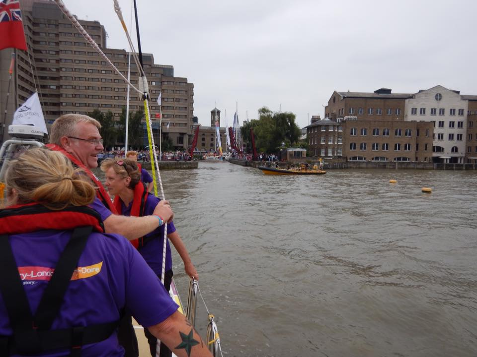 Departed from St Katherine Dock and on the Thames